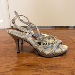 9a04b835baa3f I. Miller Silver Strappy Heels